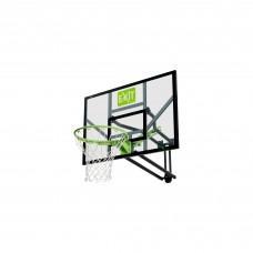 Регулируемый баскетбольный щит Exit Galaxy Green с кольцом и сеткой