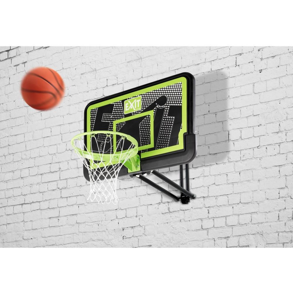 Регулируемый баскетбольный щит Exit Galaxy Black с кольцом и сеткой