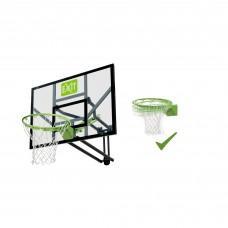 Регулируемый баскетбольный щит Exit Galaxy Green с кольцом с амортизацией