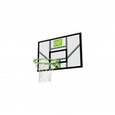 Баскетбольный щит Exit Galaxy Green с кольцом и сеткой