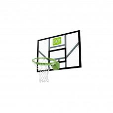 Баскетбольный щит Exit Galaxy Green с кольцом с амортизацией