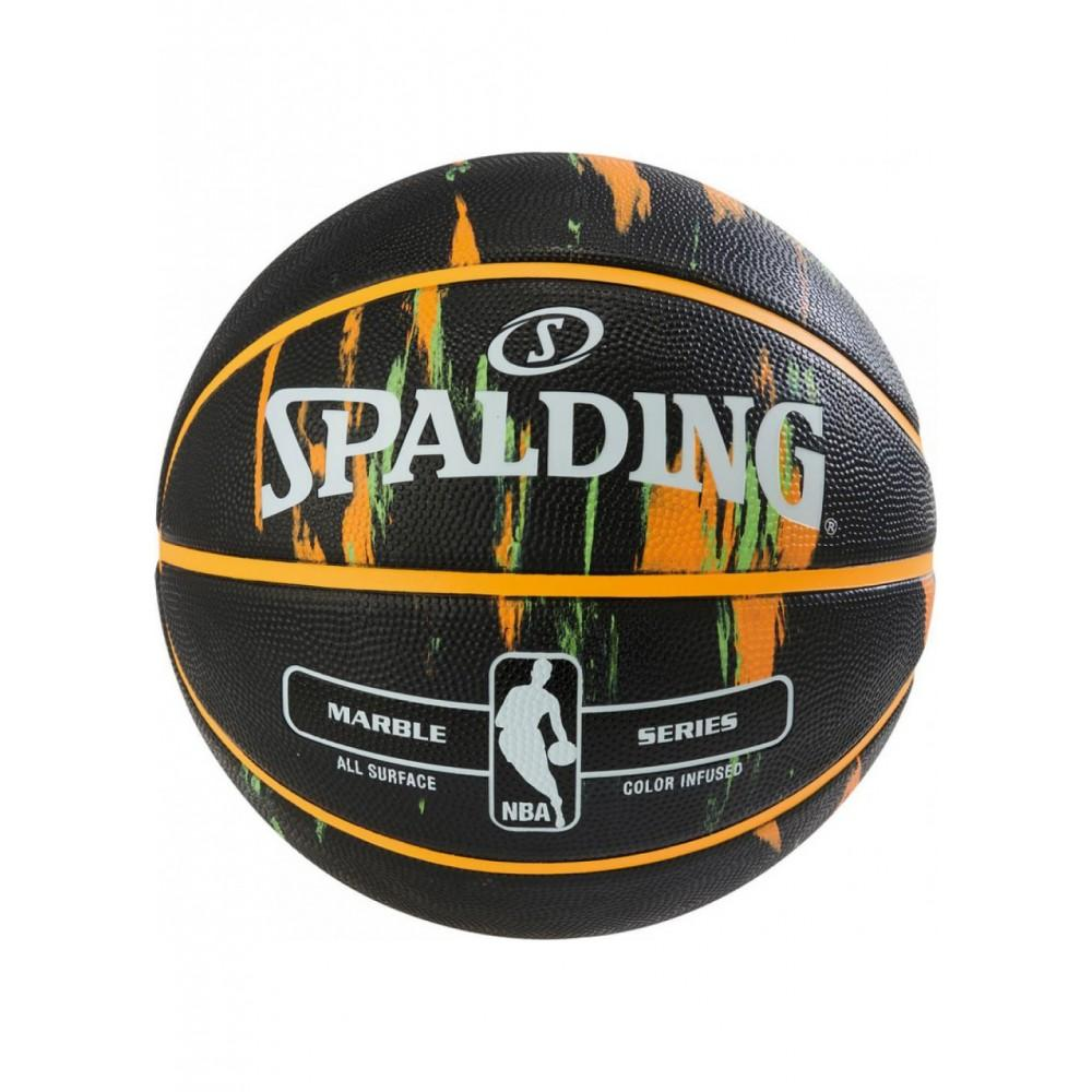 Баскетбольный мяч Spalding NBA Marble Outdoor Black/Orange/Green Размер 7
