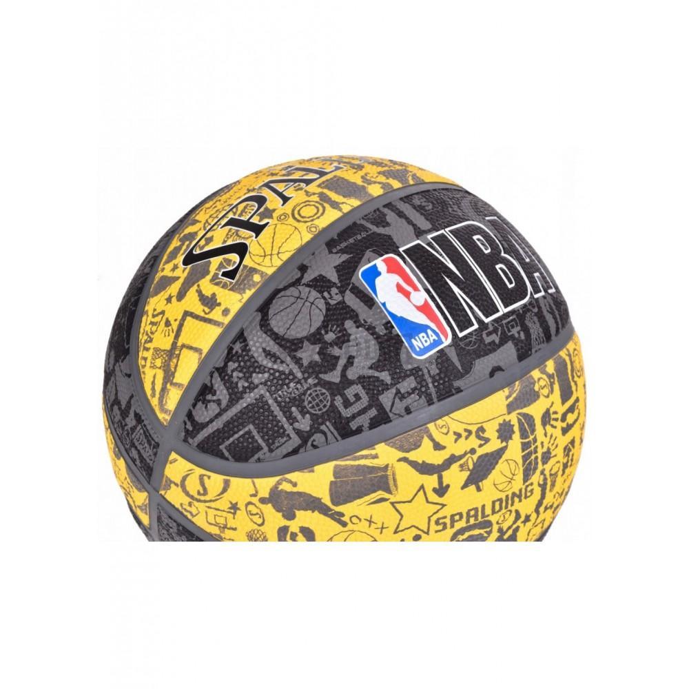 Баскетбольный мяч Spalding NBA Graffiti Outdoor Grey/Yellow Размер 7