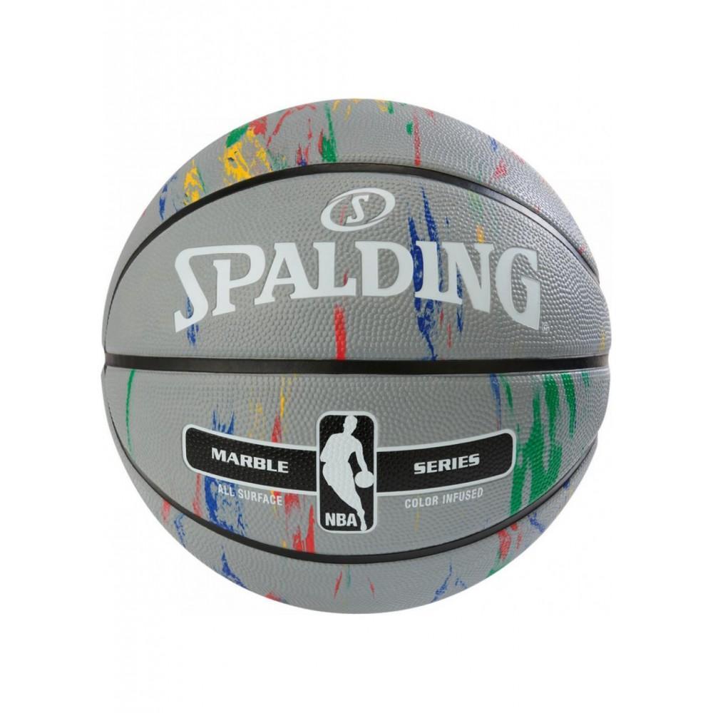 Баскетбольный мяч Spalding NBA Marble Outdoor Grey/Multi-Color Размер 7
