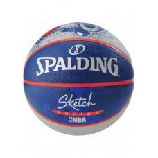 Баскетбольный мяч Spalding NBA Sketch Robot Outdoor Размер 7