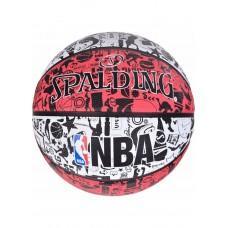 Баскетбольный мяч Spalding NBA Graffiti Outdoor White/Red Размер 7