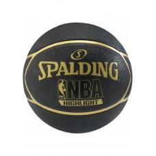Баскетбольный мяч Spalding NBA Highlight Black/Gold Размер 7