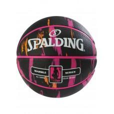 Баскетбольный мяч Spalding NBA Marble 4Her Outdoor Black/Pink/Orange Размер 6