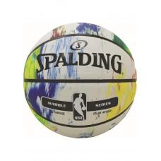 Баскетбольный мяч Spalding NBA Marble Black White Outdoor Размер 7