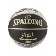 Баскетбольный мяч Spalding NBA Sketch Swoosh Outdoor Размер 7