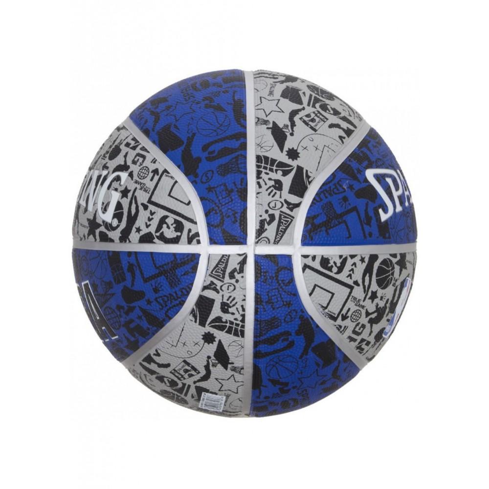 Баскетбольный мяч Spalding NBA Graffiti Outdoor Grey/Blue Размер 7
