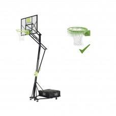 Мобильная баскетбольная стойка Exit Galaxy Green с кольцом с амортизацией