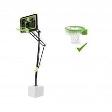 Стационарная баскетбольная стойка Exit Galaxy Black с кольцом с амортизацией