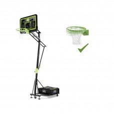 Мобильная баскетбольная стойка Exit Galaxy Black с кольцом с амортизацией