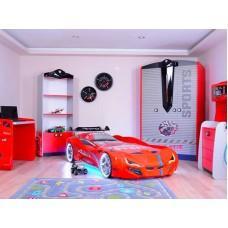 Детская кровать машина BMW 190 x 90 см, красная