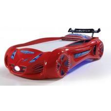 Детская кровать машина Tesla Star 190 x 90 см, красная