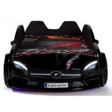 Детская кровать машина Mercedes 190 x 90 см, чёрная