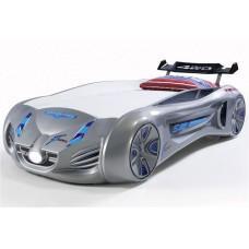 Детская кровать машина Tesla Star 190 x 90 см, серая