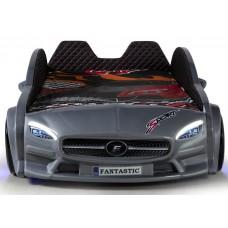 Детская кровать машина Mercedes 190 x 90 см, серая