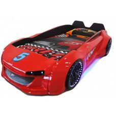Детская кровать машина Jaguar 190 x 90 см, красная
