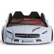 Детская кровать машина Mercedes 190 x 90 см, белая