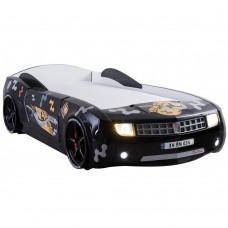 Детская кровать машина Chevrolet Camaro 190 x 90 см, черная
