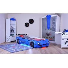 Детская кровать машина BMW 190 x 90 см, синяя