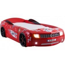 Детская кровать машина Chevrolet Camaro 190 x 90 см, красная