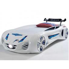 Детская кровать машина Tesla Star 190 x 90 см, белая