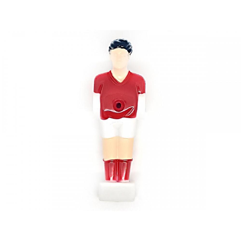 Футболист для настольного футбола Artmann 12,7 мм красно-белый