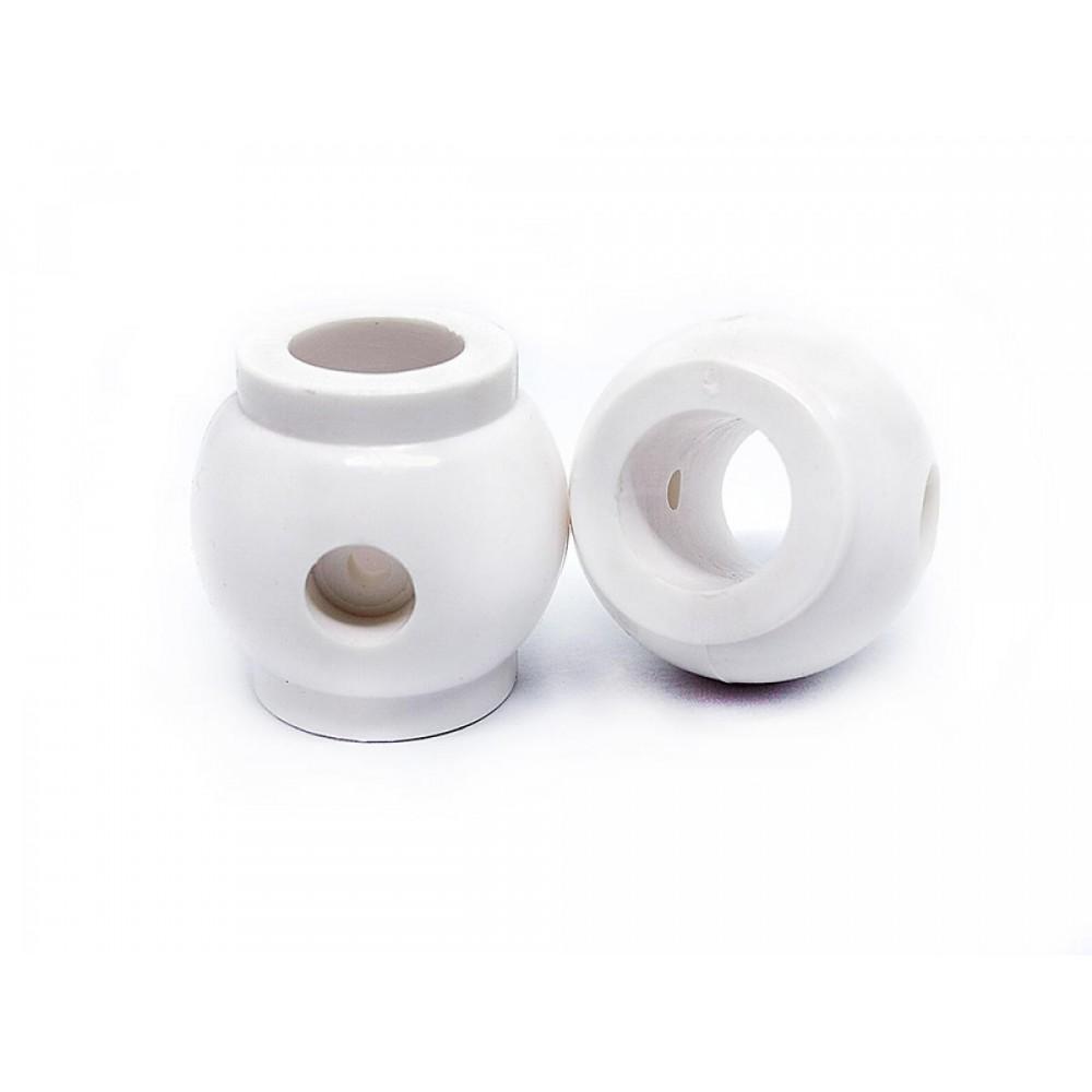 Белый ограничитель для вратаря 15,8 мм