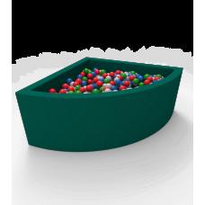 """Сухой бассейн с шариками Kidigo """"Lucky"""" Green Угловой"""
