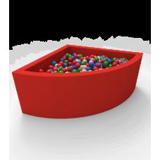 """Сухой бассейн с шариками Kidigo """"Lucky"""" Red Угловой"""