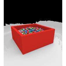 """Сухой бассейн с шариками Kidigo """"Lucky"""" Red Квадратный"""