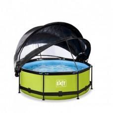 Бассейн Exit Lime 244x76 см с фильтром-насосом, куполом и тентом