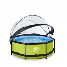 Бассейн Exit Lime 244x76 см с фильтром-насосом и куполом