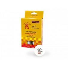 Набор из 6 белых теннисных шариков Giant Dragon Training Platinum 40+ 3* (2629)