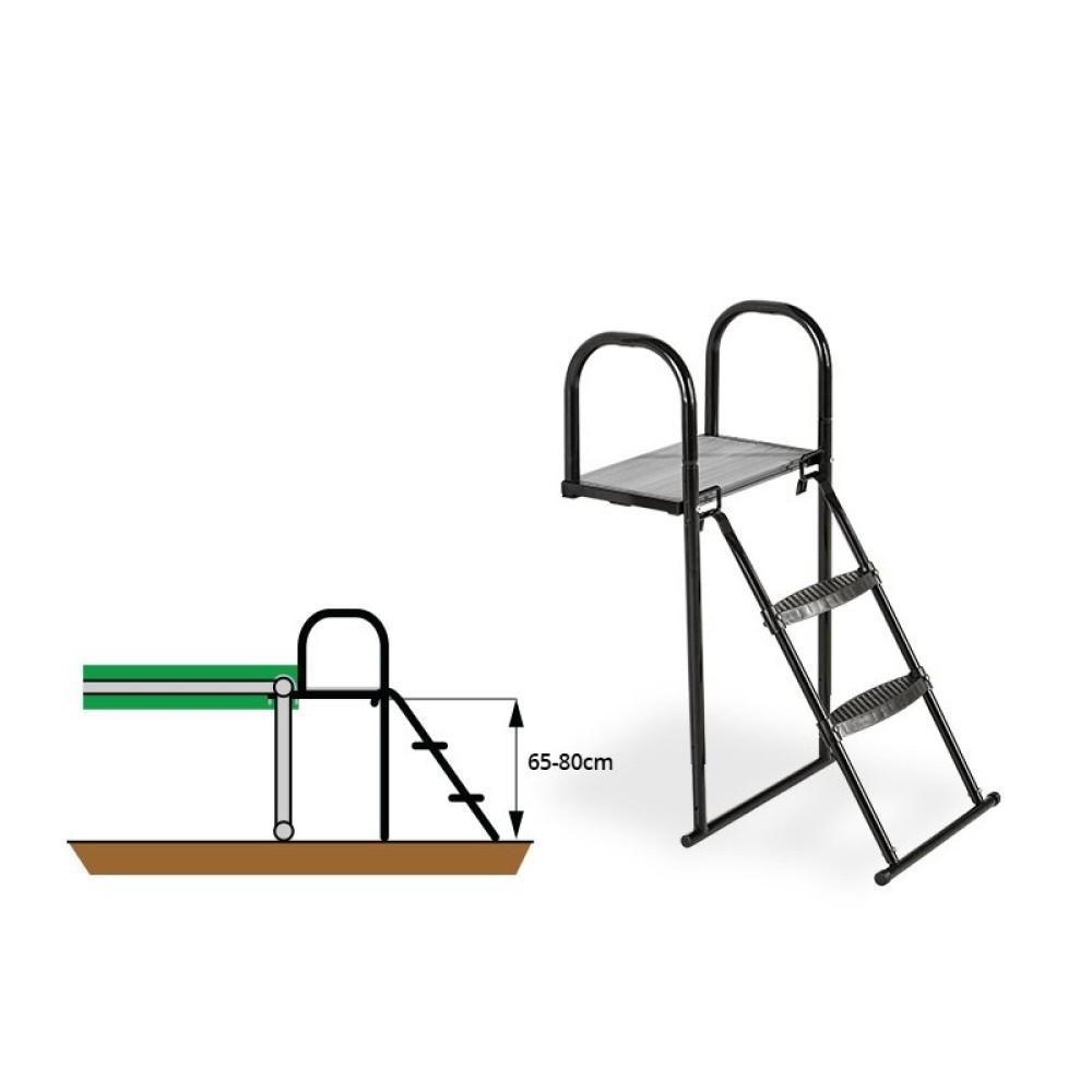 Платформа для батута с лестницей Exit 65-80 см