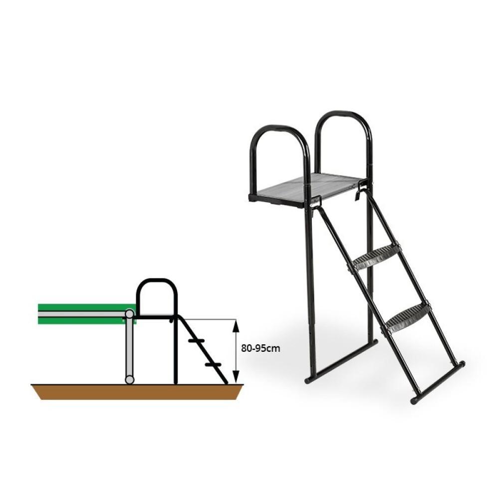 Платформа для батута с лестницей Exit 80-95 см