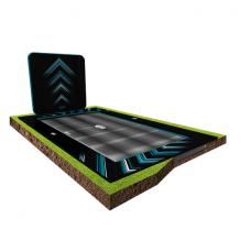 Батут Berg Ultim FlatGround Elite Black 500x300 см с AeroWall Black 2x2