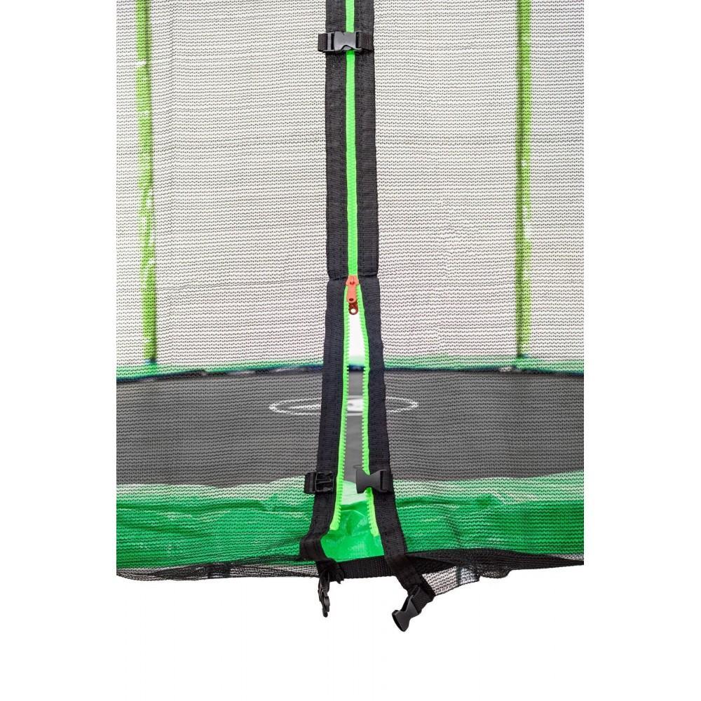 Батут Atleto Green 252 см с внешней сеткой и лестницей