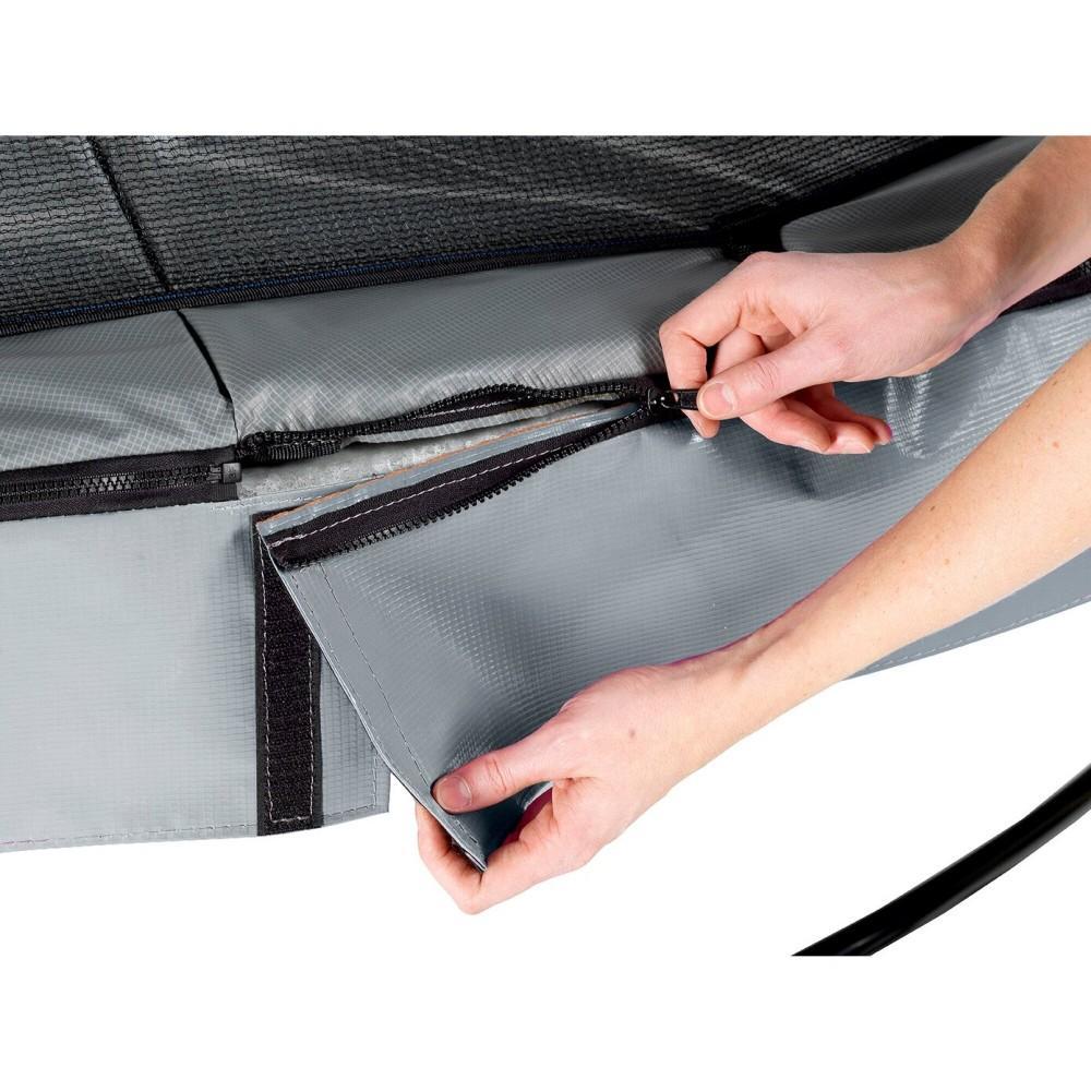 Батут Exit Elegant Premium Grey 253 см с сеткой Deluxe