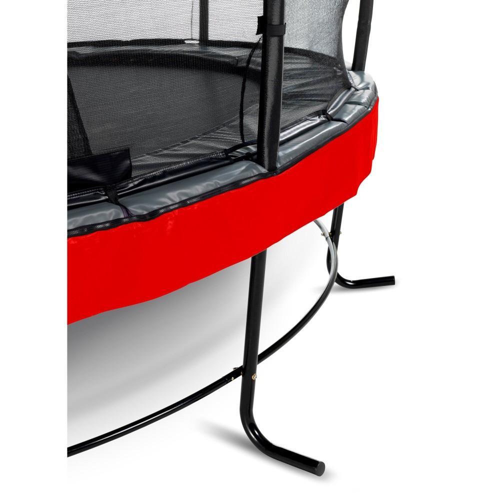 Батут Exit Elegant Premium Red 253 см с сеткой Deluxe