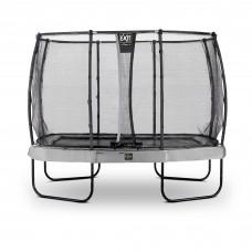Батут Exit Elegant Premium Grey 214x366 см с сеткой Deluxe