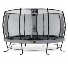 Батут Exit Elegant Premium Grey 427 см с сеткой Deluxe
