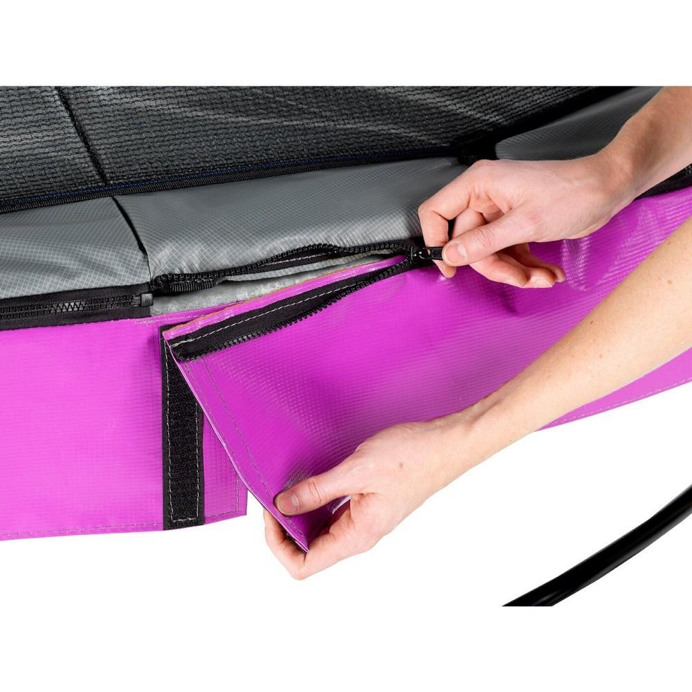 Батут Exit Elegant Purple 253 см с сеткой Economy