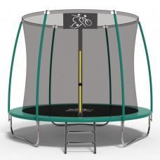 Батут FitToSky Green 312 см с внутренней сеткой и лестницей