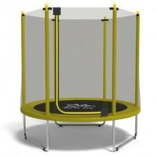 Батут с сеткой FitToSky Yellow 152 см