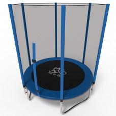 Батут FitToSky Blue 183 см с сеткой и лестницей