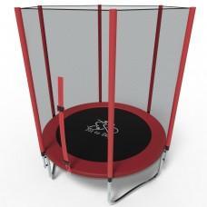 Батут FitToSky Red 183 см с сеткой и лестницей
